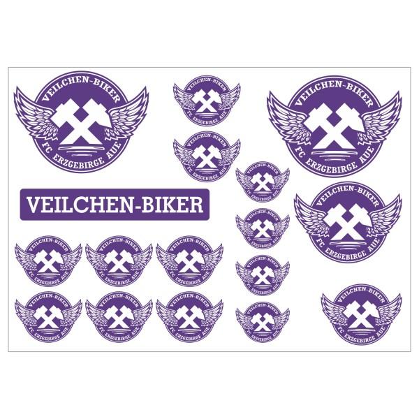 Veilchenbiker Aufkleberset A4