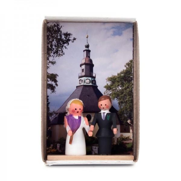 Dregeno Erzgebirge - Miniatur-Zündholzschachtel Hochzeit