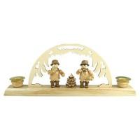 Lenk & Sohn Kerzenständer Erzgebirge 2-flammig Waldmusikanten