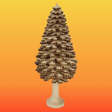 Lenk & Sohn Erzgebirgischer Schichtenbaum Nadelbaum 14cm natur