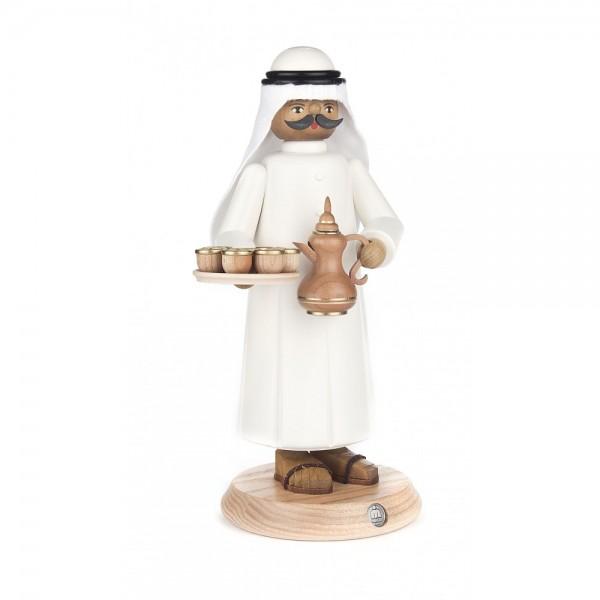 Dregeno Erzgebirge - Räuchermann Araber mit rauchender Teekanne - 25cm