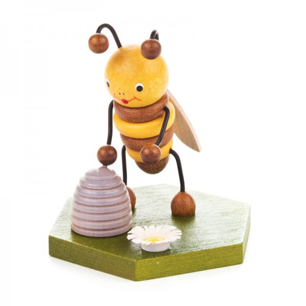 Dregeno Erzgebirge - Biene mit Bienenkorb