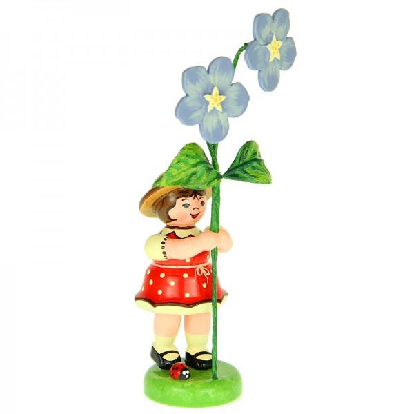 Hubrig Blumenmädchen 11cm Blumenkind mit Flachs