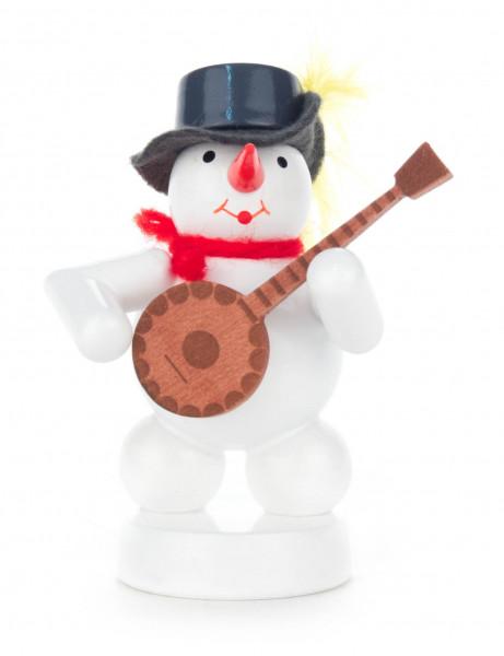 Dregeno Erzgebirge - Schneemann mit Banjo
