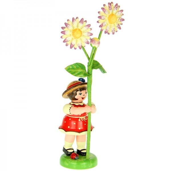 Hubrig Blumenmädchen 11cm Blumenkind mit Gänseblümchen