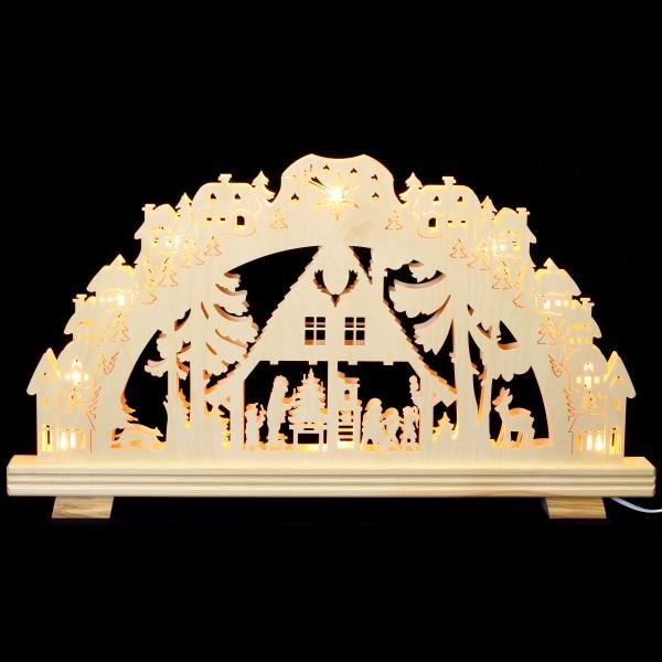 Holzkunst Niederle - 3D Schwibbogen - Waldmotiv