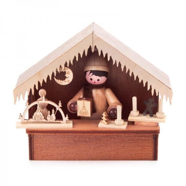 Dregeno Erzgebirge - Miniatur-Weihnachtsmarktbude Erzgebirgische Volkskunst