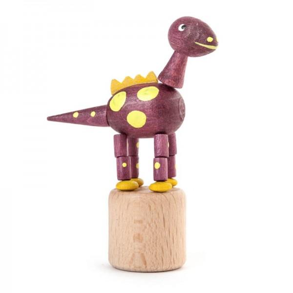 Dregeno Erzgebirge - Miniatur-Wackeltier Dinosaurierer, violett