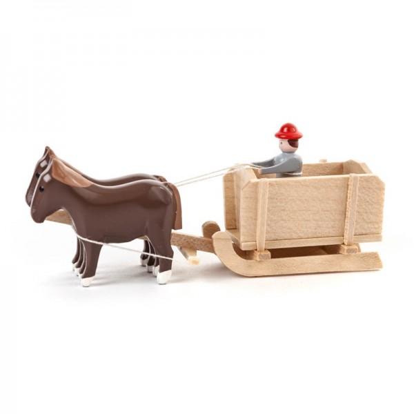 Dregeno Erzgebirge - Miniatur-Pferde mit Kastenschlitten