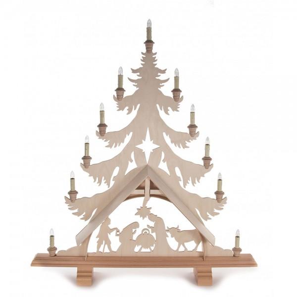 Dregeno Erzgebirge - Lichterbaum mit Christ Geburt - elektrisch beleuchtet