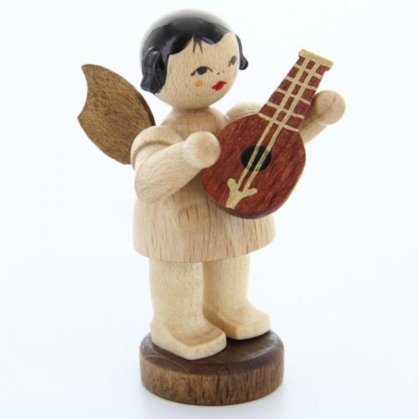 Uhlig Engel stehend mit Mandoline, natur, handbemalt