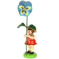 Hubrig Blumenmädchen 11cm Blumenkind mit Stiefmütterchen