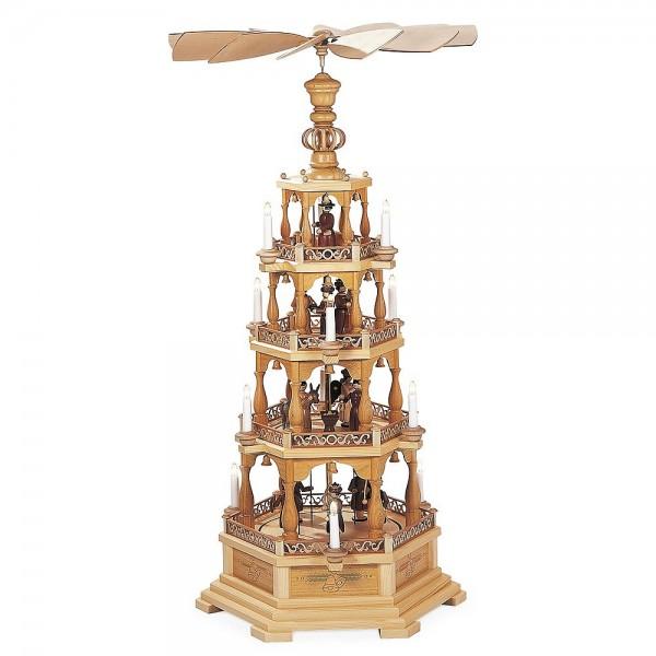Müller Pyramide Heilige Geschichte 4-stöckig, natur 120cm