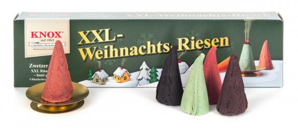 Dregeno Erzgebirge - KNOX Räucherkerzen XXL-Weihnachtsriesen (5), inkl. Glimmschale (VE 20)