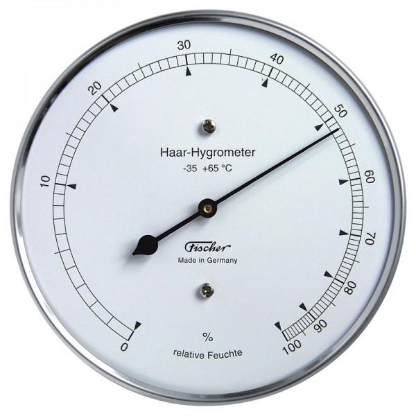Fischer Präzis Haar-Hygrometer im Edelstahlgehäuse