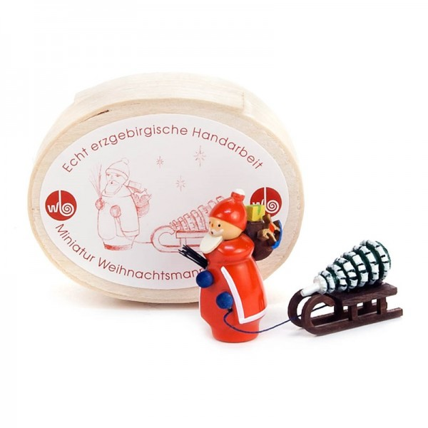 Dregeno Erzgebirge - Miniatur-Weihnachstmann in Spandose