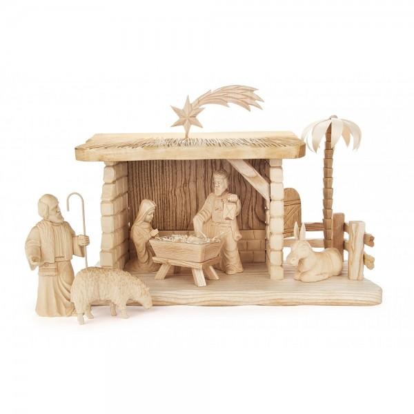 Dregeno Erzgebirge - Geschnitzte Krippe Christi Geburt - 8-teilig