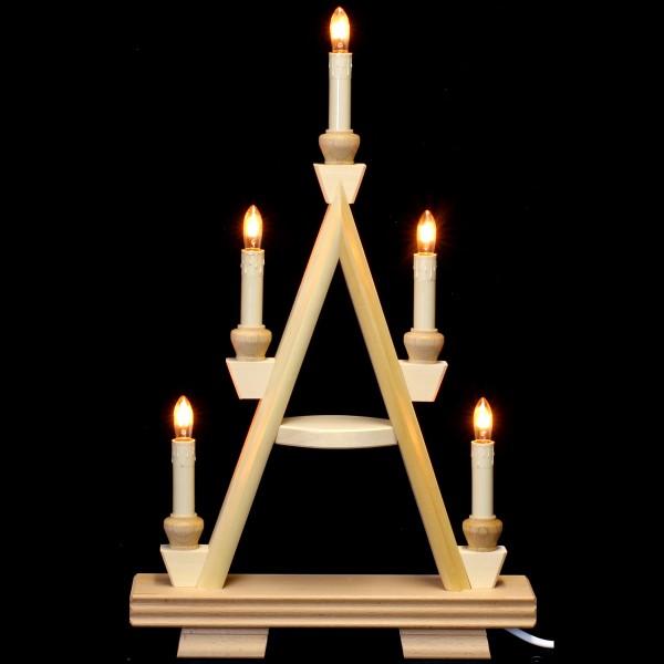 Holzkunst Niederle - Lichterspitze 2 Etagen - leer