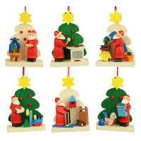 Graupner Holzminiaturen - Christbaumschmuck Baum-Weihnachtsmann