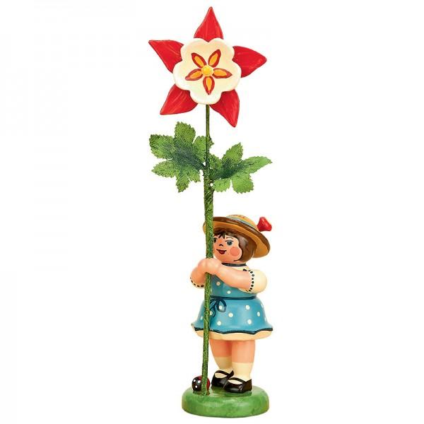 Hubrig Blumenmädchen 11 cm Blumenkind mit Akelei
