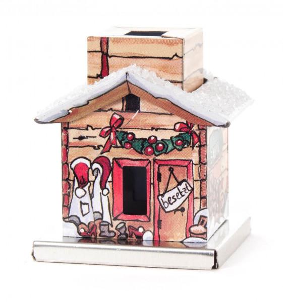 Dregeno Erzgebirge - Mini-Räucherhaus im Geschenkkarton aus Metall