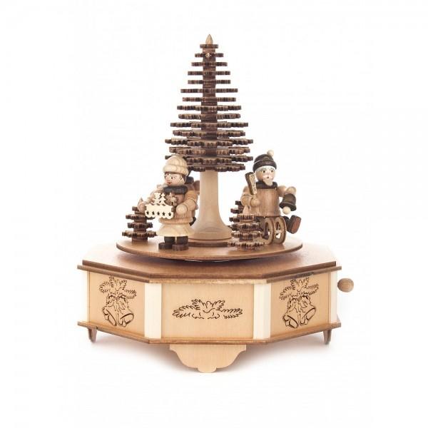 Dregeno Erzgebirge - Spieldose Weihnachtsfiguren, 18-stimmiges Spielwerk