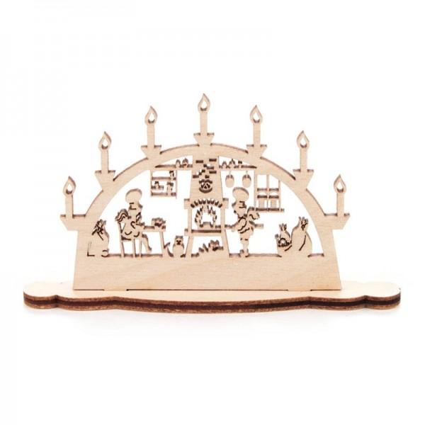 Dregeno Erzgebirge - Miniatur-Schwibbogen Motiv Bäckerei