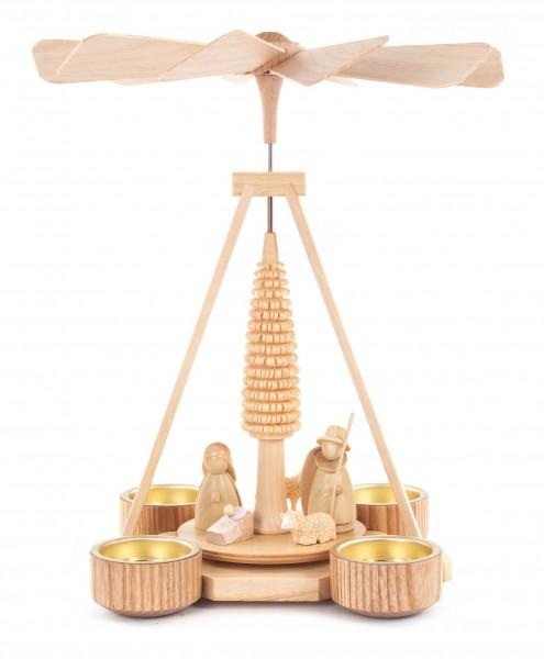 Dregeno Erzgebirge - Pyramide mit Christi Geburt, für Teelichte