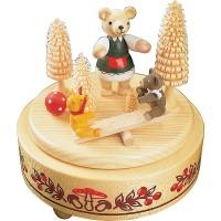 Richard Glässer Spieldose Bärenwippe
