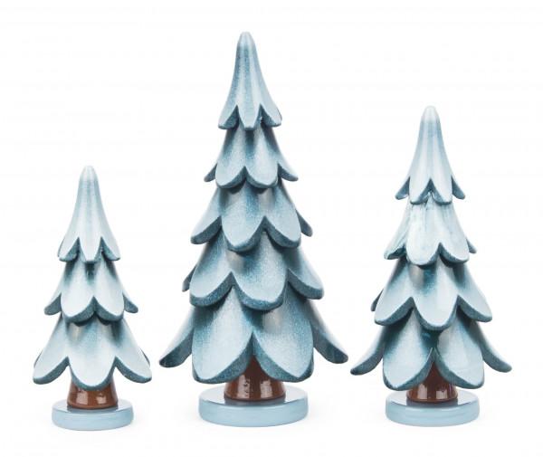 Dregeno Erzgebirge - Massivholzbäume grün-weiß, 7/9/11cm (3)