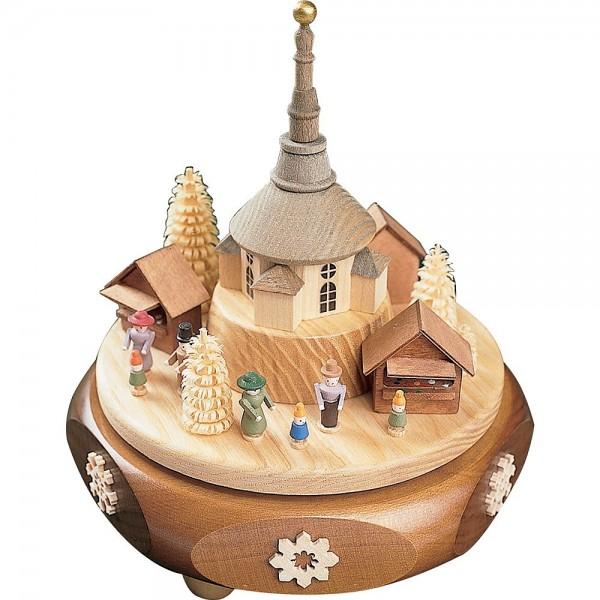 Richard Glässer Spieldose Seiffener Weihnachtsmarkt