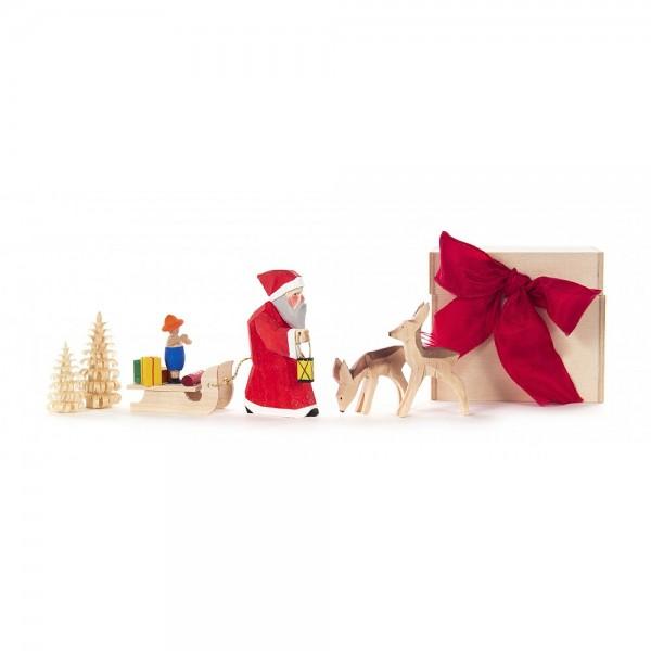 Dregeno Erzgebirge - Schnitzerei - Geschenkebox Weihnachten - 6,5cm