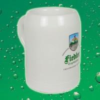 Fiedler Bierglas - Tonkrug weiß - 0,5l
