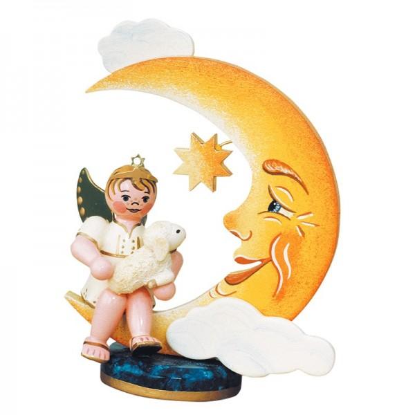 Hubrig Geschenke-Engel Engelbub Mond mit Schäfchen 6,5cm
