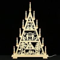 Holzkunst Niederle - Erzgebirgische Lichterspitze - Waldmotiv - 4 Etagen