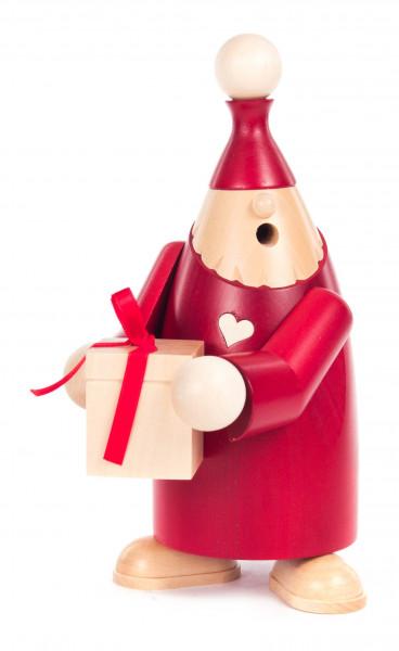 Dregeno Erzgebirge - * Räuchermann Wichtel »Felix« mit Geschenk, rot