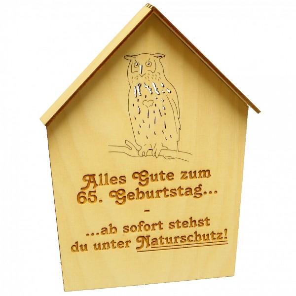 HELA Holzkunst - Naturschutzschild mit Geburtstagsspruch