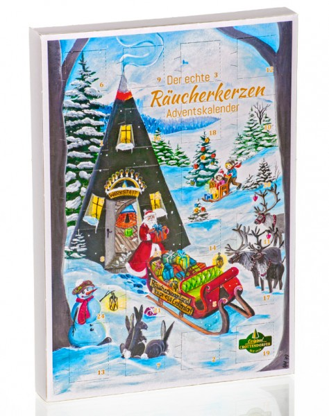Crottendorfer Räucherkerzen Adventskalender mit 24 Räucherkerzen 2019 - Made in Germany