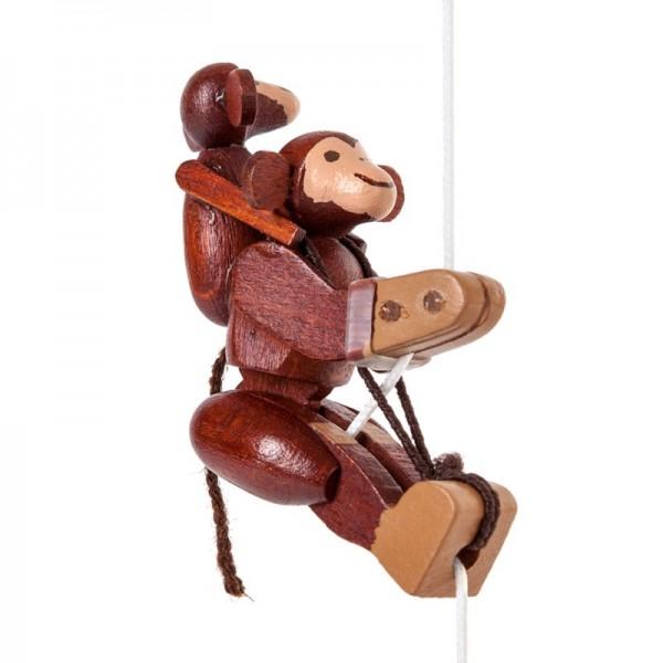 Dregeno Erzgebirge - Miniatur-Kletterfigur Affe mit Kind