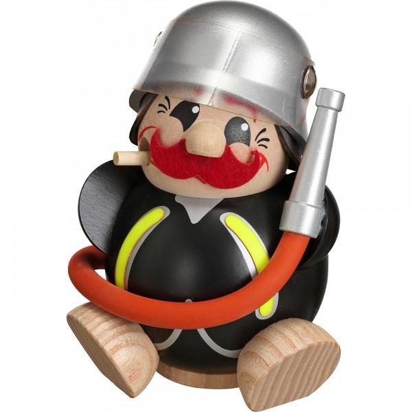 Seiffener Volkskunst Kugelräucherfigur Feuerwehrmann