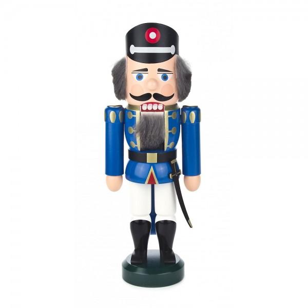 Dregeno Erzgebirge - Nussknacker Polizist blau klein - 25cm
