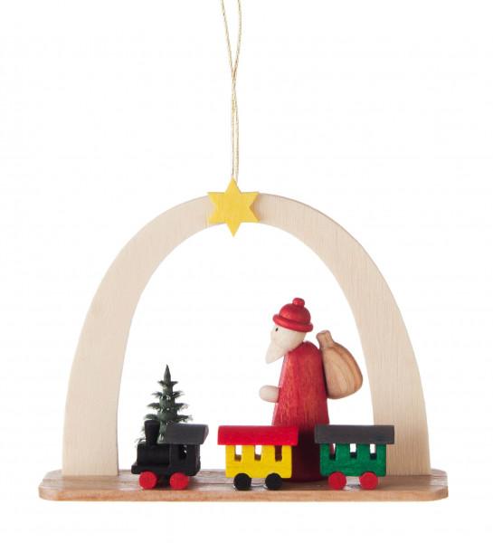 Dregeno Erzgebirge - Behang Weihnachtsmann mit Zug