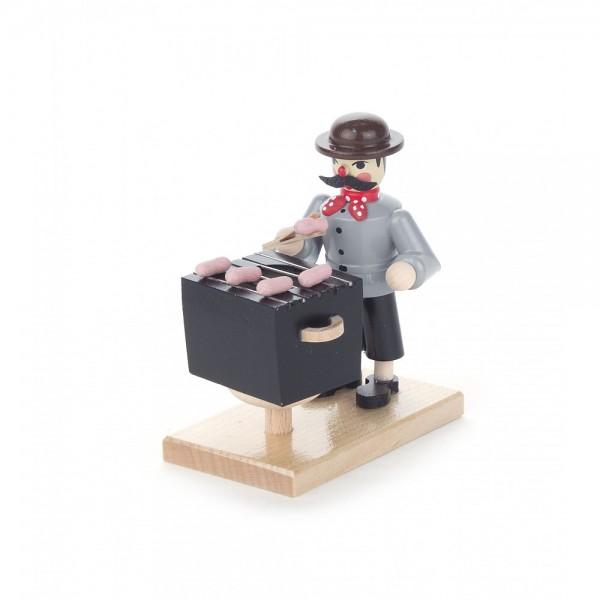 Dregeno Erzgebirge - Miniatur-Räuchermann Bratwurstverkäufer - 8cm