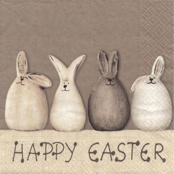 Dregeno Erzgebirge - Servietten Happy Easter Bunnies 20er-Pack