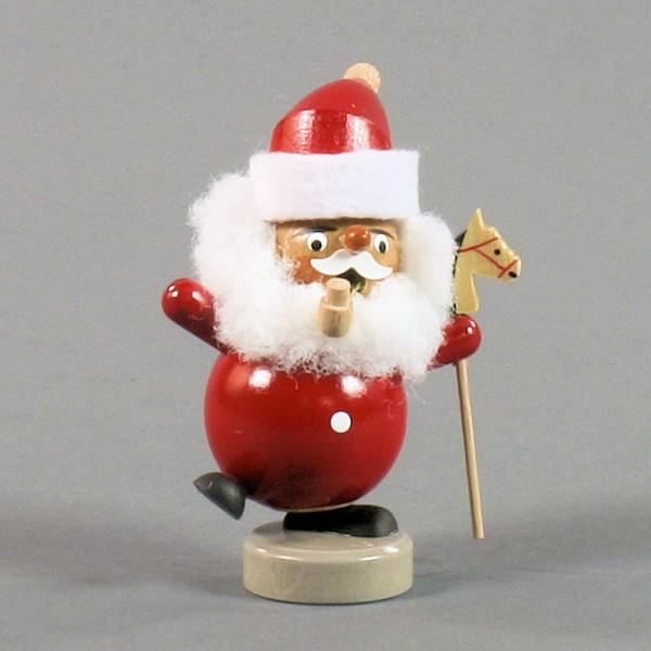 Dregeno Erzgebirge - Miniatur-Kugelrauchmann Weihnachtsmann - 9cm