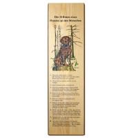 Holzbrett bedruckt zum Aufhängen 16x60cm - Die zehn Bitten eines Hundes