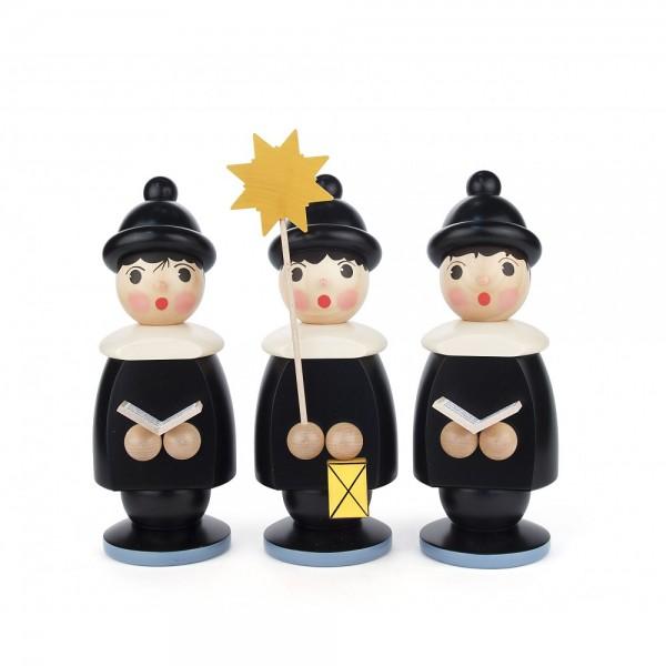 Dregeno Erzgebirge - Kurrendefiguren groß 3er-Gruppe, schwarz - 30cm