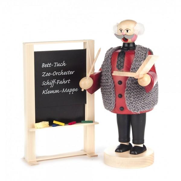 Dregeno Erzgebirge - Räuchermann Lehrer mit Tafel - 20cm