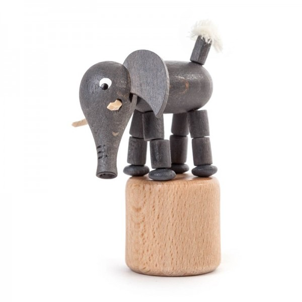 Dregeno Erzgebirge - Miniatur-Wackeltier Elefant