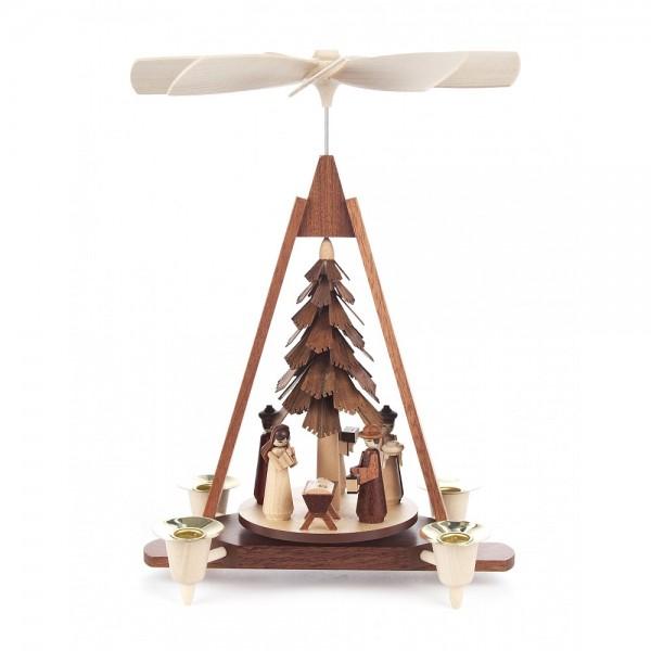 Dregeno Erzgebirge - Pyramide klein mit Christi Geburt - 29cm